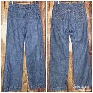 BCBGeneration Tania High Waisted Wide Leg Jeans